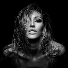 Siss... by Robert Maschke on 500px.  #blackandwhite #beauty #beautiful #girl #woman #female #pretty #sensual #lowlight #mschky #portrait #studio #photography #makeup #face #skin #hair #eyes #lips #augsburg #munich #münchen #stuttgart