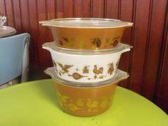 Vintage Pyrex Americana Pattern Cinderella Style by peacenluv72, $53.50