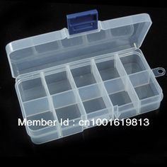 2015 Hot Sale Jewelry Storage Box Pill Beads Holder Organizer Case Box 10 Compartment for Nail Art Tips