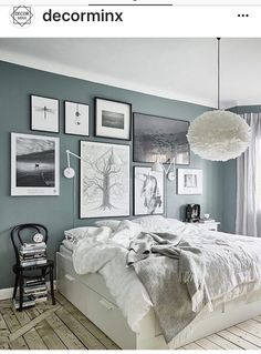 Lovely The Grey Green Walls In This Home Look So Beautiful Against The Light  Wooden Floor. The Leather Butterfly Chair Goes So Perfectly With This Tint  And Is A ...