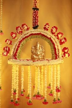 41 Ideas Flowers Wedding September Floral Arrangements For 2019 Housewarming Decorations, Diwali Decorations, Indian Wedding Decorations, Festival Decorations, Flower Decorations, Ganpati Decoration Theme, Diwali Diy, Flower Rangoli, Wedding Mandap