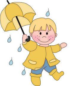 Garçon sous la pluie