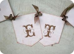 NEW  Shabby Pink and Chocolate Banner  by LittlePaperFarmhouse, $2.50