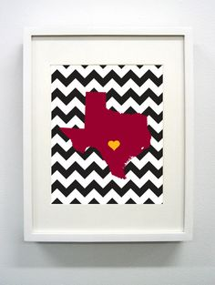 WANT this for suuure --  Giclée Print - 8x10 -  Texas State University Print
