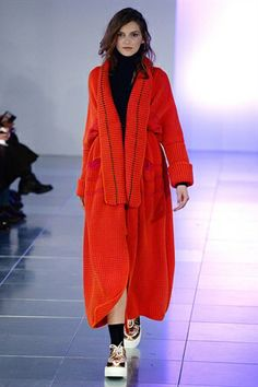 London Fashion Week, Mark Fast AW14 - Half coat half dressing gown its like all my dreams come true.