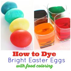 easter egg dying collage