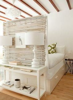 20 Practical Room Divider Ideas Interiorforlife.com How to Use IKEA KVARTAL Track Curtains