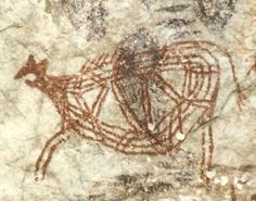 Arte Neolítico: Pintura, escultura, arquitectura y cerámica: Ejemplo de arte neolítico: pintura rupestre esquematizada.
