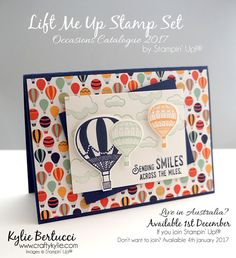 Stampin' Up! Australia: Kylie Bertucci Independent Demonstrator: VIDEO: Kylie's Facebook Live Class - Lift me Up Stamp Set