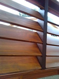 Modern Fence Design Made of Sleek Wooden Slat: Stunning Modern Fencing Ideas Like Blind Window Contemporary Exterior ~ HOMESBRO Furniture Inspiration