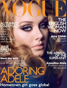 Adele on the cover of British Vogue --- Gorgeous as always!