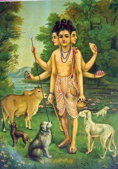Dattatreya by:Raja Ravi Varma.