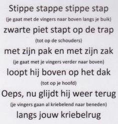 Versje Zwarte Piet (Uit de nieuwe methode van Jules!) Leuk als massage bij een maatje: