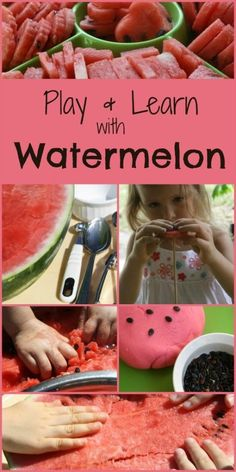 Play & Learn with Watermelon...math, literacy, science and tons of sensory play!!
