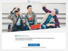#Correo_electrónico #Internet #microsoft Las cuentas de correo electrónico premium de Outlook costarán 3,99$ al mes