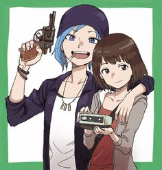 Chloe and mAx (life is strange)