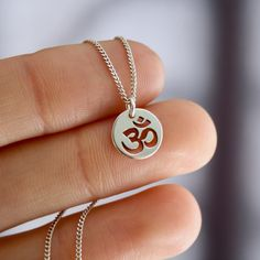 Mini Ohm Necklace Pendants, Rose Gold, Pendant Necklace, Jewels, Chain, Sterling Silver, Mini, Handmade, Hand Made