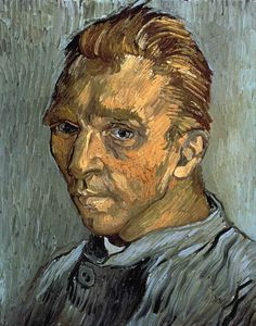 Art of the Day: Van Gogh, Self Portrait, September 1889. Oil on canvas, 40 x 31 cm. Private collection.