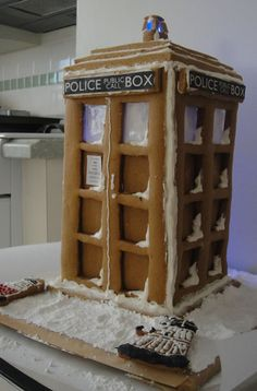 This was my gingerbread TARDIS and Dalek cookies from the 2011 holidays. The Dalek cookie cutter was custom made. The custom patterns I used for the gingerbread is in this post.    submitted by avant1963