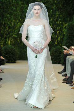Coleção vestidos de #noiva Carolina Herrera Primavera 2014 #casarcomgosto