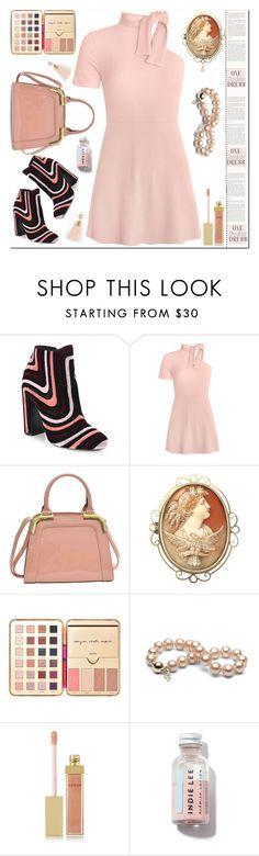 """🎀 #522 #dress"" by wonderful-paradisaical ❤ liked on Polyvore featuring Salvatore Ferragamo, Dasein, tarte, AERIN, Torrid, trending, polyvorecontest, topfashionproducts, polyvoretrend and PolyvoreMostStylish"