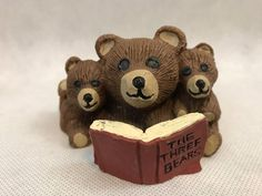 E L Three Bears Reading The Three Bears Book Signed Vintage Brown Figurine | Collectibles, Animals, Wild Animals | eBay!