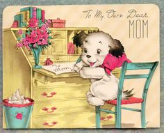 Vintage Mother's Day card from our collection.