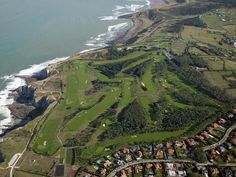 Beautiful golf club on top of the cliffs overlooking the ocean...