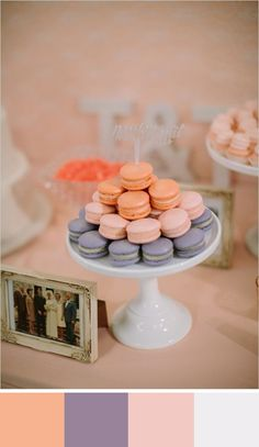 Feeling Peachy: 5 Peach Color Palettes for your Wedding Day Peach Color Palettes, Peach Colors, Wedding Sweets, Wedding Cookies, Wedding Cupcakes, Wedding Day, Wedding Peach, Formal Wedding, Wedding Designs