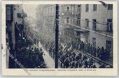 51091421 - Wilna Vilnius Deutsche Infanterie rueckt in Wilna ein