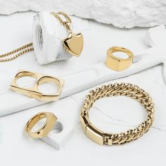 These pieces are so sleek and trendy.