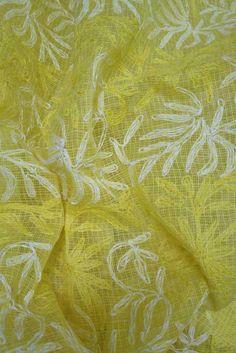 Hand Embroidered Chikankari work Kota Doria fabric