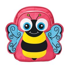 12.77$  Buy here - http://airsh.worlditems.win/all/product.php?id=B0333RO - New Child Unisex Kids Boys Girls Backpack Cartoon Bee Zipper Schoolbag Outdoor Cute Casual Toddler Bag