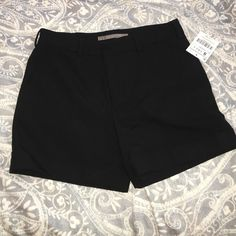 Zara High Waisted Black Dress Shorts Zara High Waisted Black Dress Shorts. Purchased in Portugal as a present, still has tags. Zara Shorts