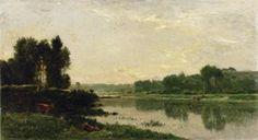 The Banks of the River Charles François Daubigny - 1868