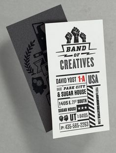 The Tenfold Collective for Band of Creatives business card design