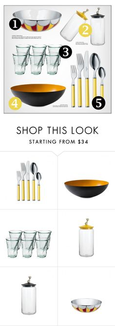 """""""Kitchen Products"""" by lovethesign-eu ❤ liked on Polyvore featuring interior, interiors, interior design, home, home decor, interior decorating, kitchen, yellow, Home and kicthendecor"""
