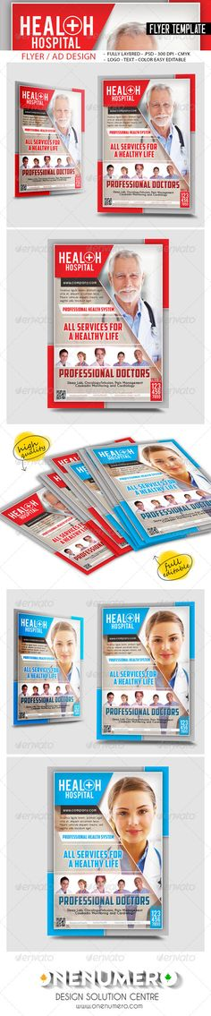 Health Billboard Templates web Pinterest Text fonts, Fonts - hospital flyer template
