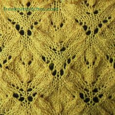 Knitting Stitch Patterns -- Leaf Stitches-- Alder