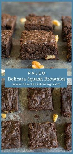 These delicious chocolate brownies are paleo, and much healthier than regular brownies. Gluten free, refined sugar free, hidden veggies, and a moist brownie. These coconut flour brownies are so good! fearlessdining Best Gluten Free Cookies, Best Gluten Free Desserts, Easy To Make Desserts, Foods With Gluten, Delicious Desserts, Coconut Flour Brownies, Dairy Free Brownies, Gluten Free Chocolate, Healthy Chocolate