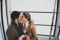 #TheEndlessWinterWedding  Somewhere.... The sweetest kiss ...  A real ski wedding in Briançon -  #bride #groom #realwedding  #frenchkiss #internationalweddingplanner #murielsaldalamacchiaweddings aka #lesriresdejulie   Photographer : Ela & The Poppies