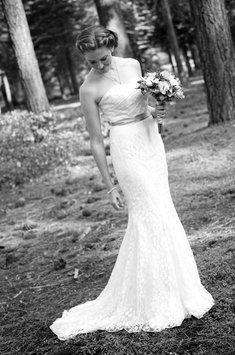 714a4972a90b Galina Soft White Lace (Leaf Pattern) Wg3381 Vintage Wedding Dress Size 4  (S) 62% off retail. Tradesy