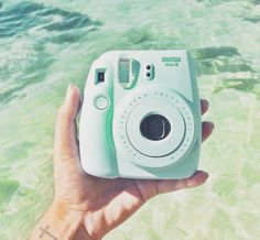 Tips - Instax Camera - ideas of Instax Camera. Trending Instax Camera for sales. - Mint green polaroid camera I want to take one picture a day while Im gone on my 9 month internship in Uganda Polaroid Instax Mini 8, Fujifilm Instax Mini, Polaroid Camera Colors, Mint Green Aesthetic, Aesthetic Colors, Aesthetic Girl, Camara Fujifilm, Camera Aesthetic, Polaroid Pictures