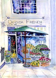 Kensington Memories I - By Watercolour Artist Sherren MacLeod