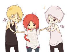 Team Evil. Jace, Clary and Sebastian