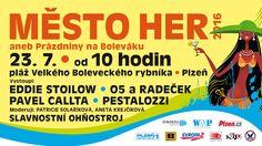 V sobotu 23. července ožije pláže Ostende na Velkém boleveckém rybníku v Plzni tradiční a oblíbenou prázdninovou akcí pro celou rodinu s názvem Město her aneb Prázdniny na Boleváku. Začíná se v 10 hodin. Portal, Comic Books, Digital, Omega, Twitter, Comic Strips, Cartoons, Comic Book, Comics