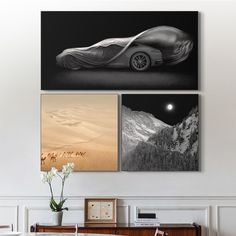 Selection of Irene Kung's Porsche limited edition works Industrial Chic Decor, Picture Arrangements, Black And White Artwork, Pictures Online, Creative Pictures, Beautiful Interiors, Photo Art, Living Room Decor, Porsche