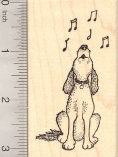 Singing Hound Dog Rubber Stamp ** See this great product.