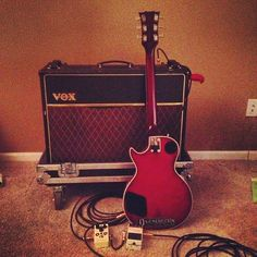 VOX amp and a Hondo 2. Bliss! Photo by glamkidd