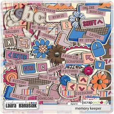 Laura's back from Digiscrapapalooza 2012 and has this super cute  digital scrapbook themed kit in her shop!